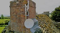 Short wave radio antenna and dish providing superfast broadband